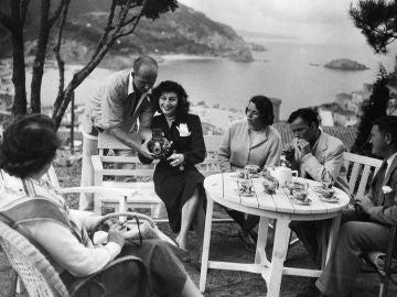 Ava Gardner, durante su estancia en la Costa Brava en 1956