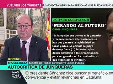 """Iceta apunta al """"inicio de una etapa nueva"""" tras las palabras de Junqueras y confía en que los indultos lleguen antes del 1 de agosto"""