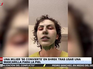Una joven advierte del peligro de algunas mascarillas faciales al no poder retirársela de la cara
