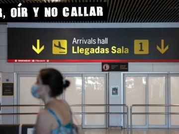 Puerta de llegadas de la T1 en Barajas