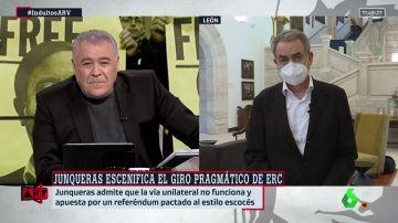"""Zapatero, tras la carta de Junqueras descartando la vía unilateral: """"Es la mejor noticia de la legislatura"""""""