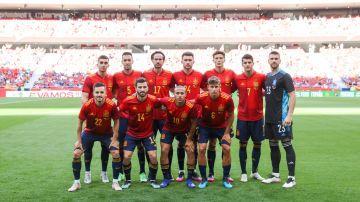 Alineación de la selección española frente a Portugal