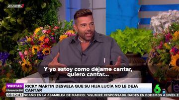"""Ricky Martín confiesa que a su hija no le gusta cómo canta: """"Me dice 'papá, para'"""""""