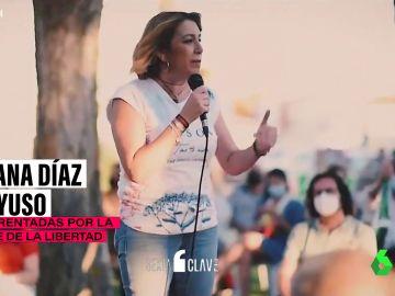 Las coincidencias en el discurso de Susana Díaz e Isabel Díaz Ayuso al usar la palabra libertad
