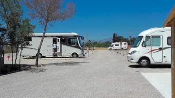Vista del camping Área 7, en Campello, Alicante