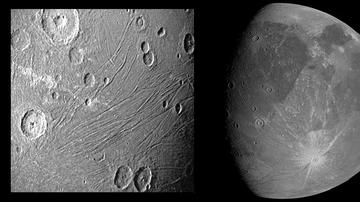 La NASA difunde las primeras imágenes de Gamínedes, la luna gigante de Júpiter