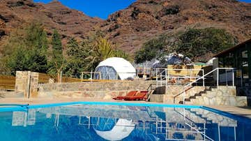 Vista del Blue Ocean Camp, en Las Palmas