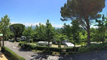 Vista del camping Igueldo, en San Sebastián
