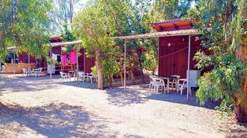 Vista del camping La Naranja, en Gandía