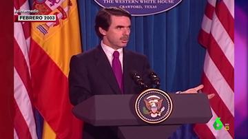 El sorprendente vídeo en el que Aznar habló con acento tejano durante una visita a EEUU en 2003