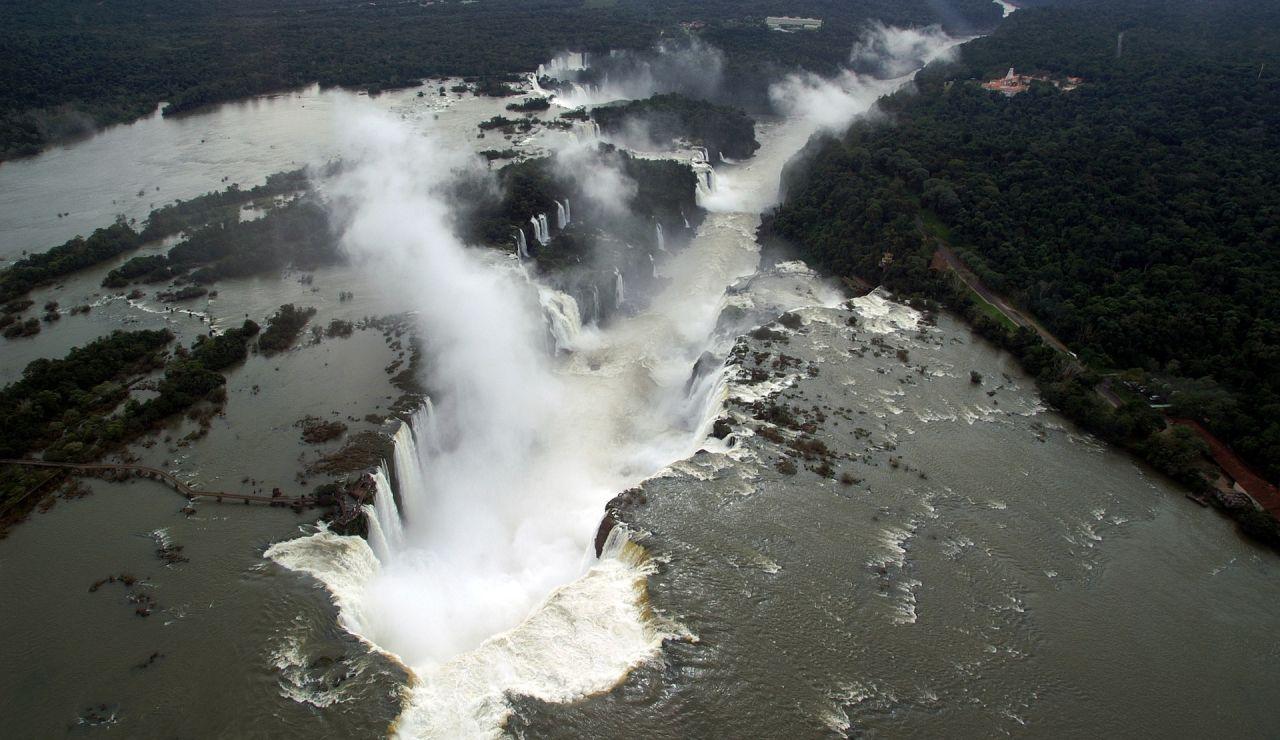 Cataratas de Iguazú desde el aire