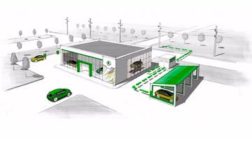 Skoda reciclará baterías como fuente de energía para sus concesionarios