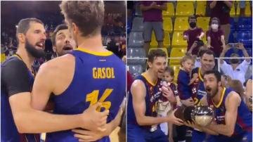 Pau Gasol levanta el título de la ACB tras la insistencia de Mirotic y Oriola