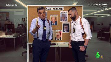 Los 'investigadores' Wyoming y Mateo analizan los papeles de cada cara conocida en la Operación Kitchen