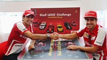Pedro de la Rosa y Fernando Alonso durante su etapa en Ferrari