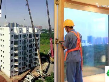 Una empresa china consigue construir un edificio de 10 plantas en 28 horas