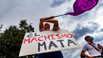 Imagen de una manifestación contra la violencia machista