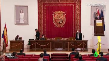 Vídeo manipulado - El día que el rey Felipe VI convirtió su atril en un cohete y huyó de La Zarzuela