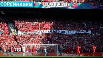 El emotivo homenaje a Eriksen en el Dinamarca - Bélgica