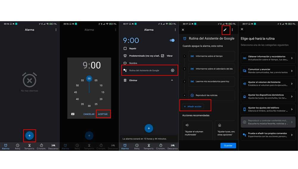 Usa tus alarmas para ejecutar tus propias rutinas