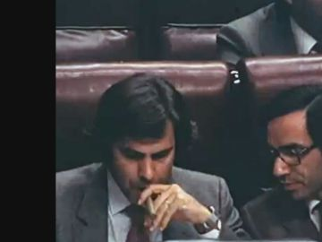 Felipe González y Alfonso Guerra en el Congreso