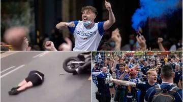 Imágenes de descontrol total en la previa del Inglaterra-Escocia