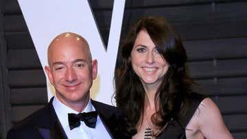 MacKenzie Scott junto a su exmarido, Jeff Bezos, en una imagen de archivo
