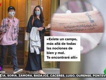 El nuevo y enigmático tatuaje de Angelina Jolie: ¿a quién va dirigido?