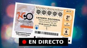 Lotería Nacional, hoy | Comprobar sorteo del sábado 19 de junio, en directo