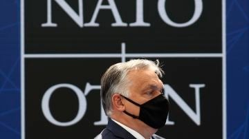 Viktor Orban, durante la cumbre de la OTAN