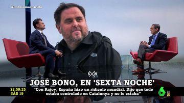 """La crítica de José Bono a Oriol Junqueras: """"No es de fiar, pero con esa gente debemos tratar para que no vuelvan a las andadas"""""""
