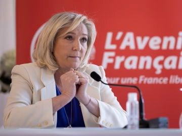 La presidenta de la Agrupación Nacional (RN) de Francia, Marine Le Pen.