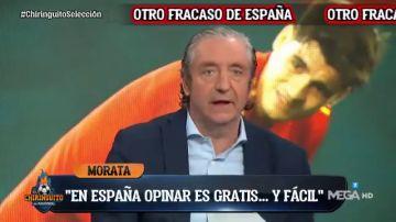 """Josep Pedrerol, tajante sobre Álvaro Morata en 'El Chiringuito': """"No puede jugar ni un minuto más con España"""""""