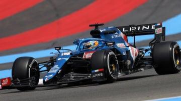 Fernando Alonso, en Francia