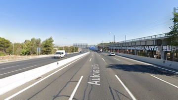 Imagen de la autovía A-4 en su paso por Carmona