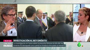 """El rifirrafe entre Paco Marhuenda y Cristina Pardo a cuenta del rey emérito: """"¿Te parece que es un santo?"""