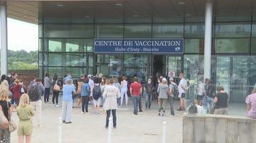 Centro de vacunación en Biarritz