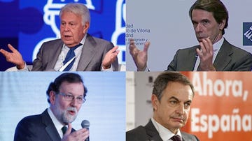 Felipe González, José María Aznar, José Luis Rodríguez Zapatero y Mariano Rajoy