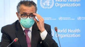 El director general de la OMS, Tedros Adhanom Ghebreyesus, durante una rueda de prensa
