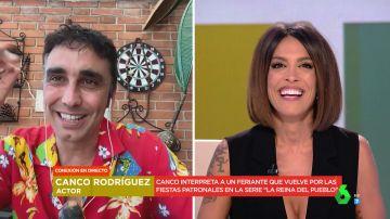 Canco Rodríguez provoca las risas del plató al confesar su truco para interpretar a un feriante en 'La reina del pueblo'
