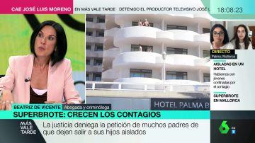 La abogada Beatriz de Vicente explica por qué es legal retener a los jóvenes confinados por el macrobrote de Mallorca