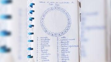 El rosco de cualidades de Pablo Díaz, de Pasapalabra