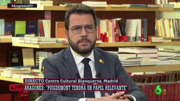 Pere Aragonès en Al Rojo Vivo