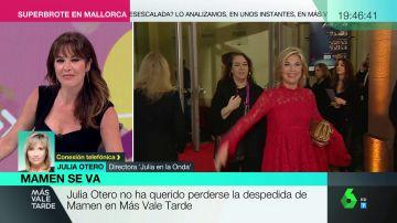 """La emotiva conversación entre Julia Otero y Mamen Mendizábal en su ultimo programa: """"Estoy deseando que te pongas bien"""""""