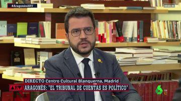 """Aragonès advierte de que el Tribunal de Cuentas """"no va a favorecer"""" la negociación del Gobierno y Cataluña"""