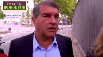 """Joan Laporta, a lo Florentino Pérez cuando le preguntan por la renovación de Messi: """"Tranquilos"""""""