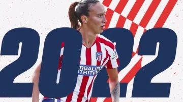 Virgnia Torrecilla renueva con el Atlético de Madrid hasta 2022