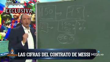Pedrerol desvela la fórmula del Barça para renovar a Leo Messi: 300 millones en tres años