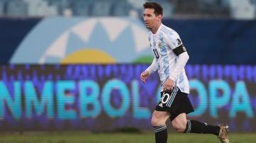 Leo Messi en el partido contra Bolivia de la Copa América