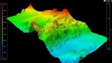 Vista de la orografía marina en la zona de búsqueda de Tomás Gimeno